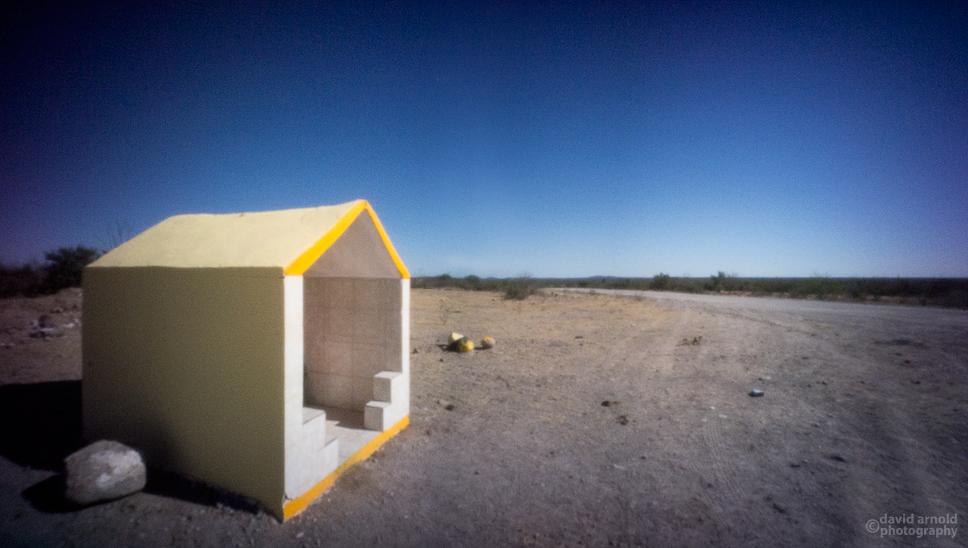 White and Yellow Shrine, Road to Misión San Luis Gonzaga Chiriyaqui