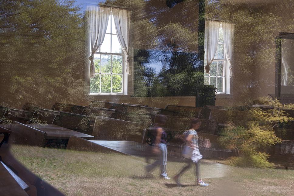 Window Reflection, Columbia School, Columbia, California