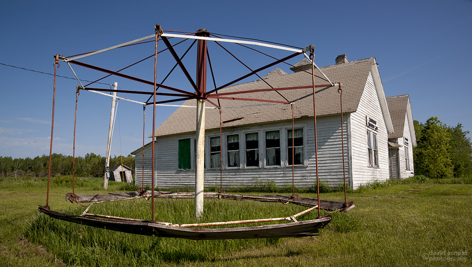 Merry-Go-Round, King School, Cloverdale, Wisconsin