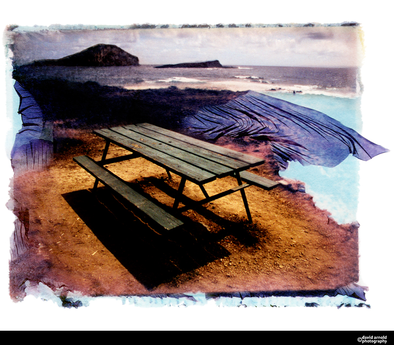 Picnic Table, Makapu Beach, Oahu, Hawaii