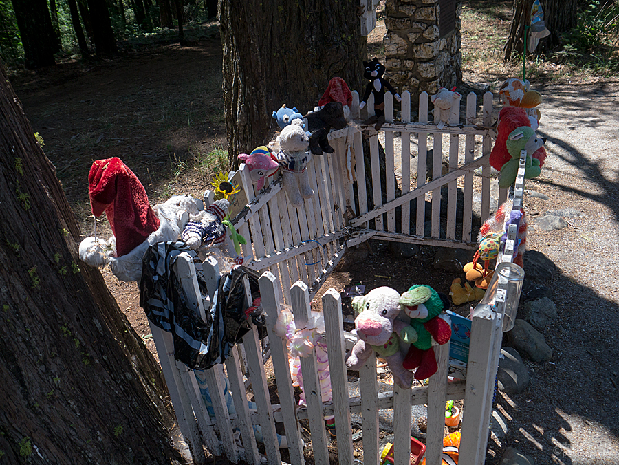 Toys at the burial site of Julius Albert Apperson