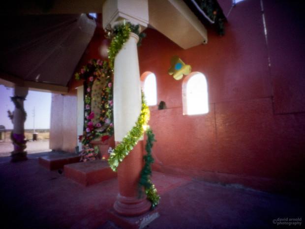 Columns, Shrine Near El Cien, Highway 1, Baja California Sur, Mexico