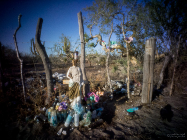 Beer Bottle Shrine Near El Cien, Highway 1, Baja California, Sur