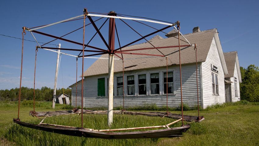 Merry-go-round, King School, Wisconsin