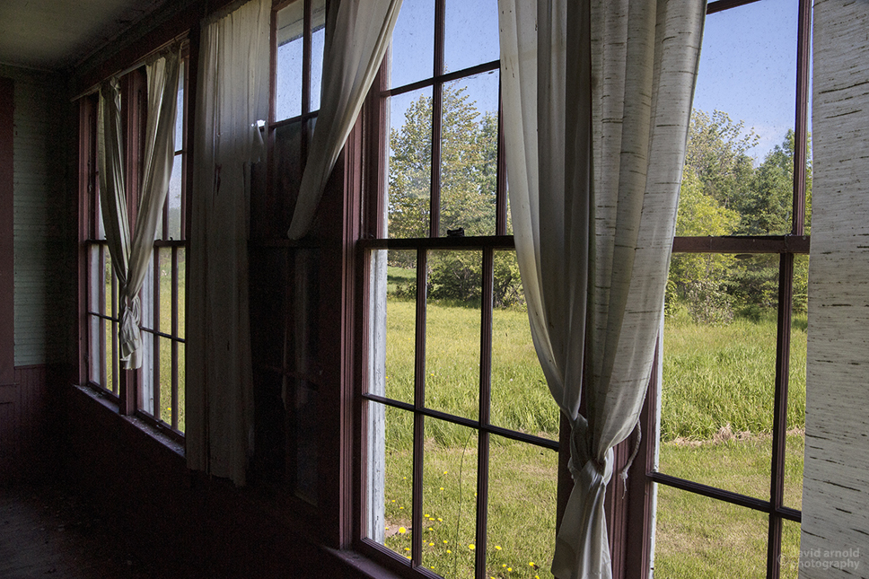 Windows and Drapes, King School, Cloverdale, Wisconsin