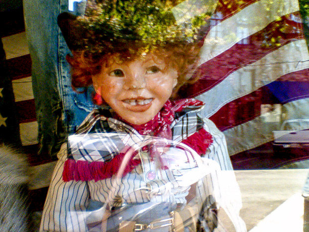 Little Cowboy Mannequin, Plumas Street, Yuba City, California