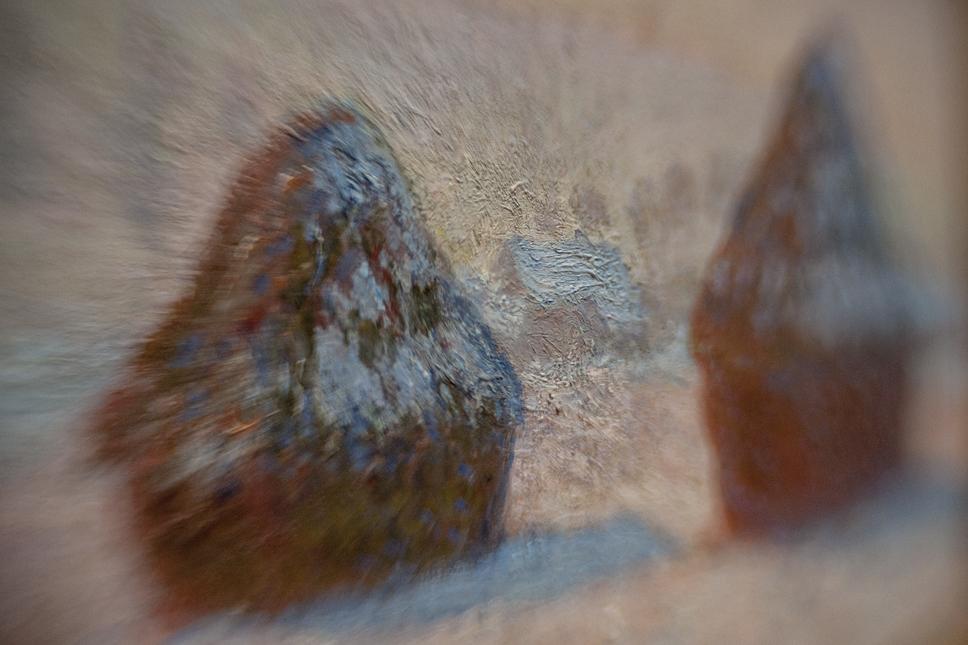 Borrowed Source: Haystack Detail, Claude Monet,(French, 1840-1926), Wheatstacks, Snow Effect, Morning, 1891, J. Paul Getty Museum.
