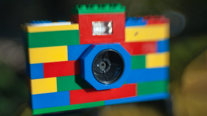Colorful Lego Camera with blur