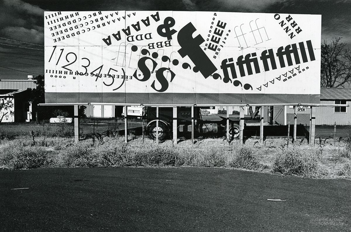 A Very Big F, Highway 41 near Stafford, California