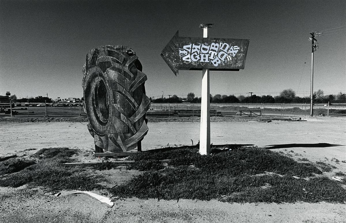 Tractor Tire and Sign, Modesto, California