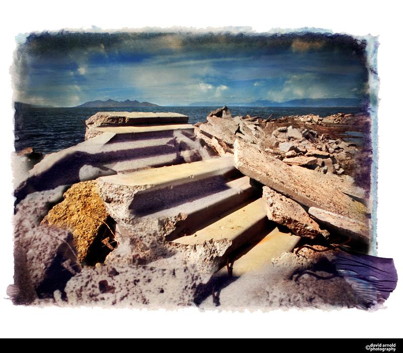 Abandoned Steps, Great Salt Lake, Utah