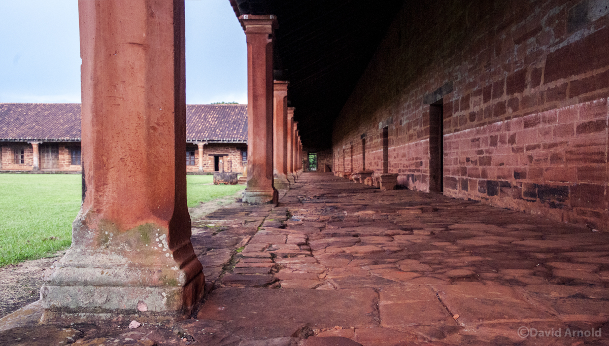 Colonnade, Mission San Cosme y Damián, Paraguay