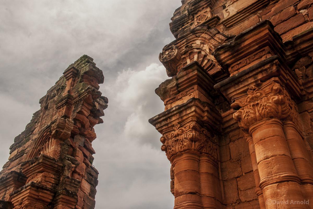 Columns, South Wall, Mission San Ignacio Miní, Argentina