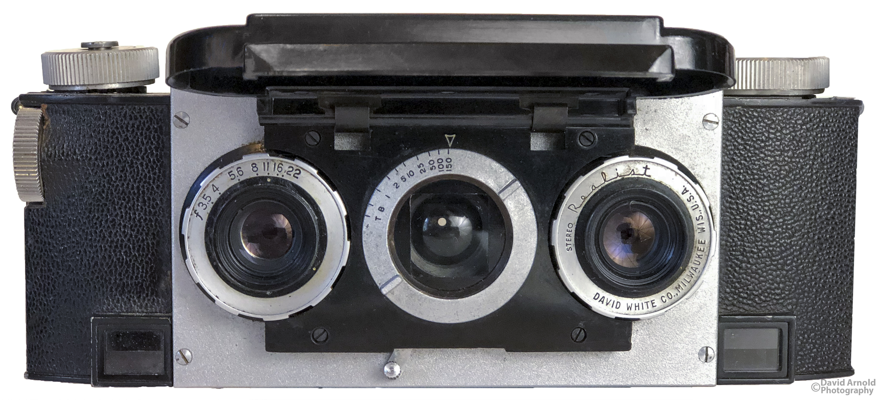 Stereo Realist Front View with Lens Cap Opened
