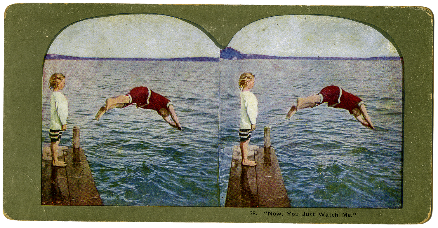 """""""Now, You Just Watch Me,"""" T. W. Ingersoll Stereo Card Collection, 1898"""