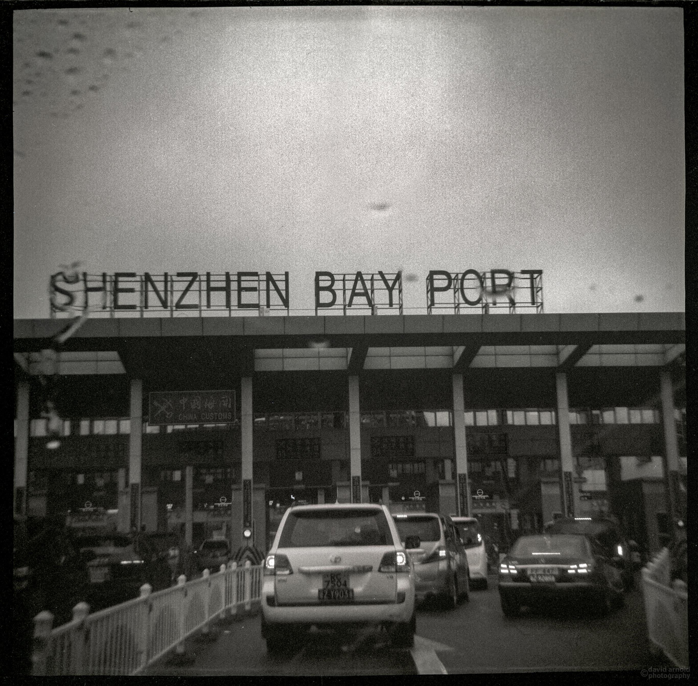 Shenzhen, China and Hong Kong border crossing.