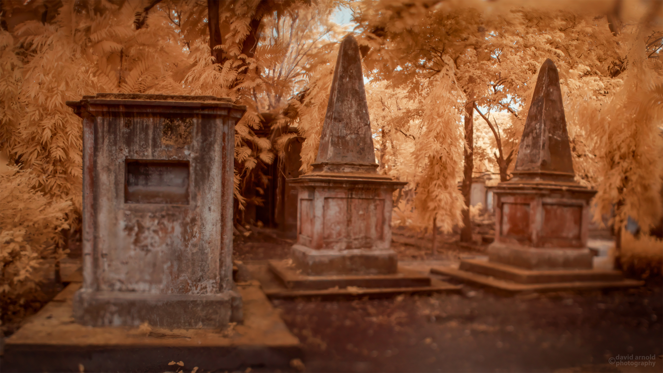 Tomb, Pyramids, South Park Street Cemetery, Kolkata, India.