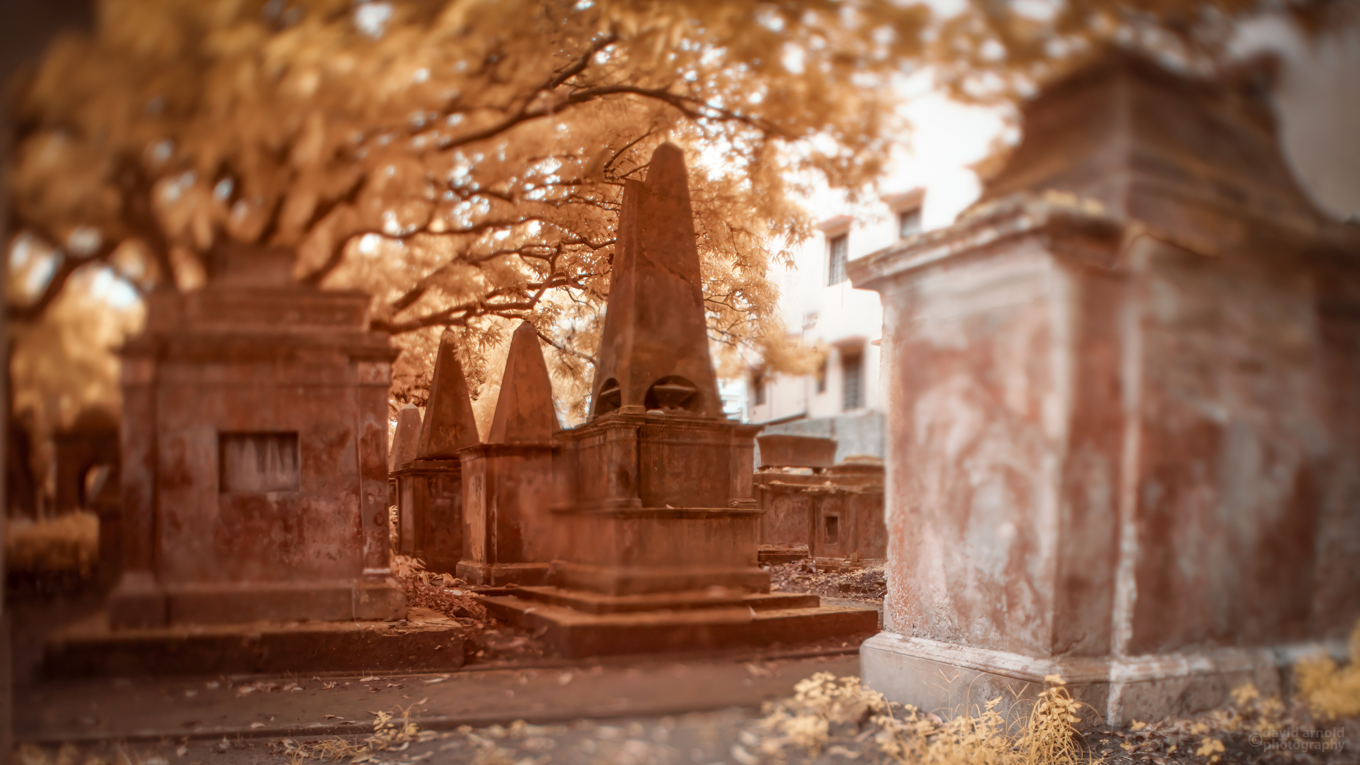 Pyramid Tombs, South Park Street Cemetery, Kolkata, India.