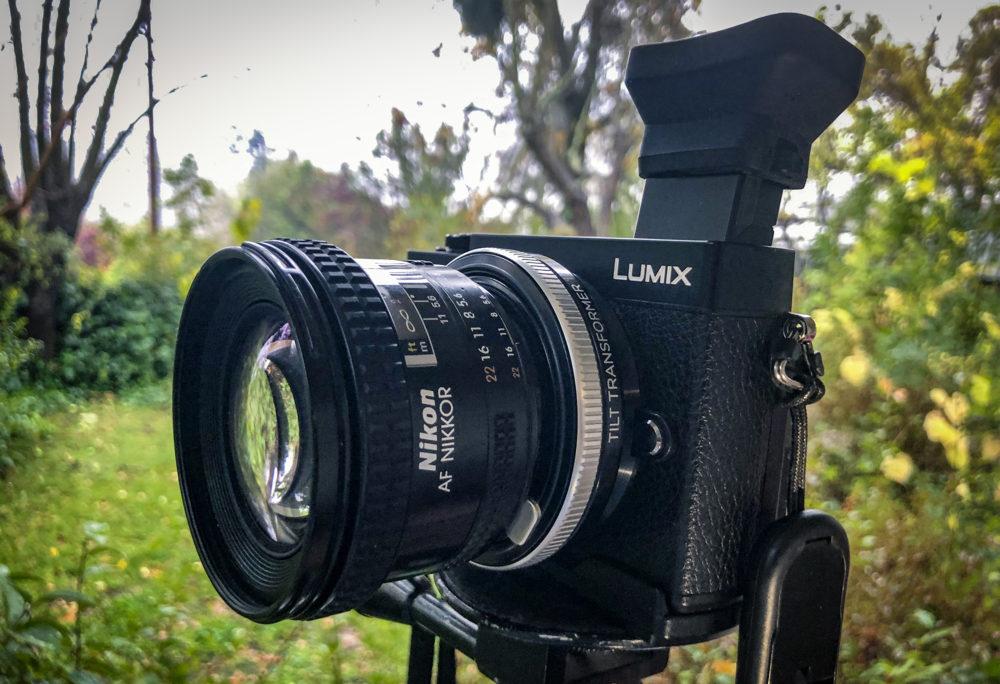 Lumix GX-9 with Nikon 20mm and Lensbaby Tilt Transformer