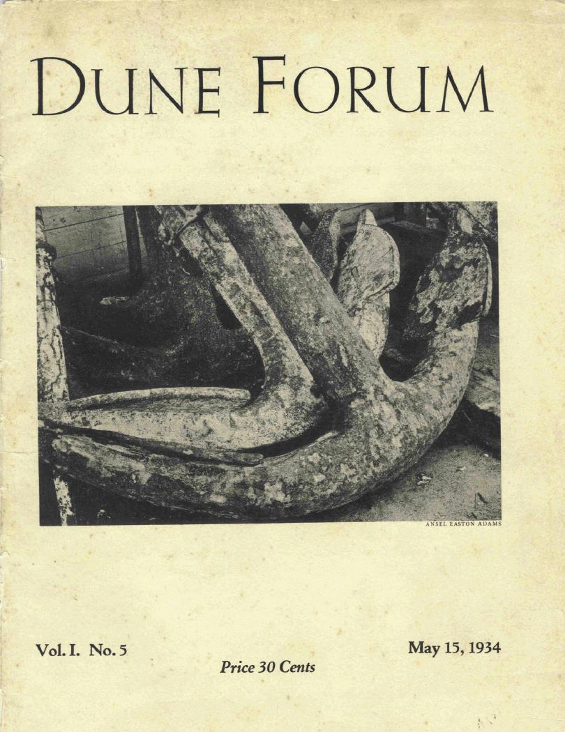 Anchor, Dune Forum Cover, Ansel Adams