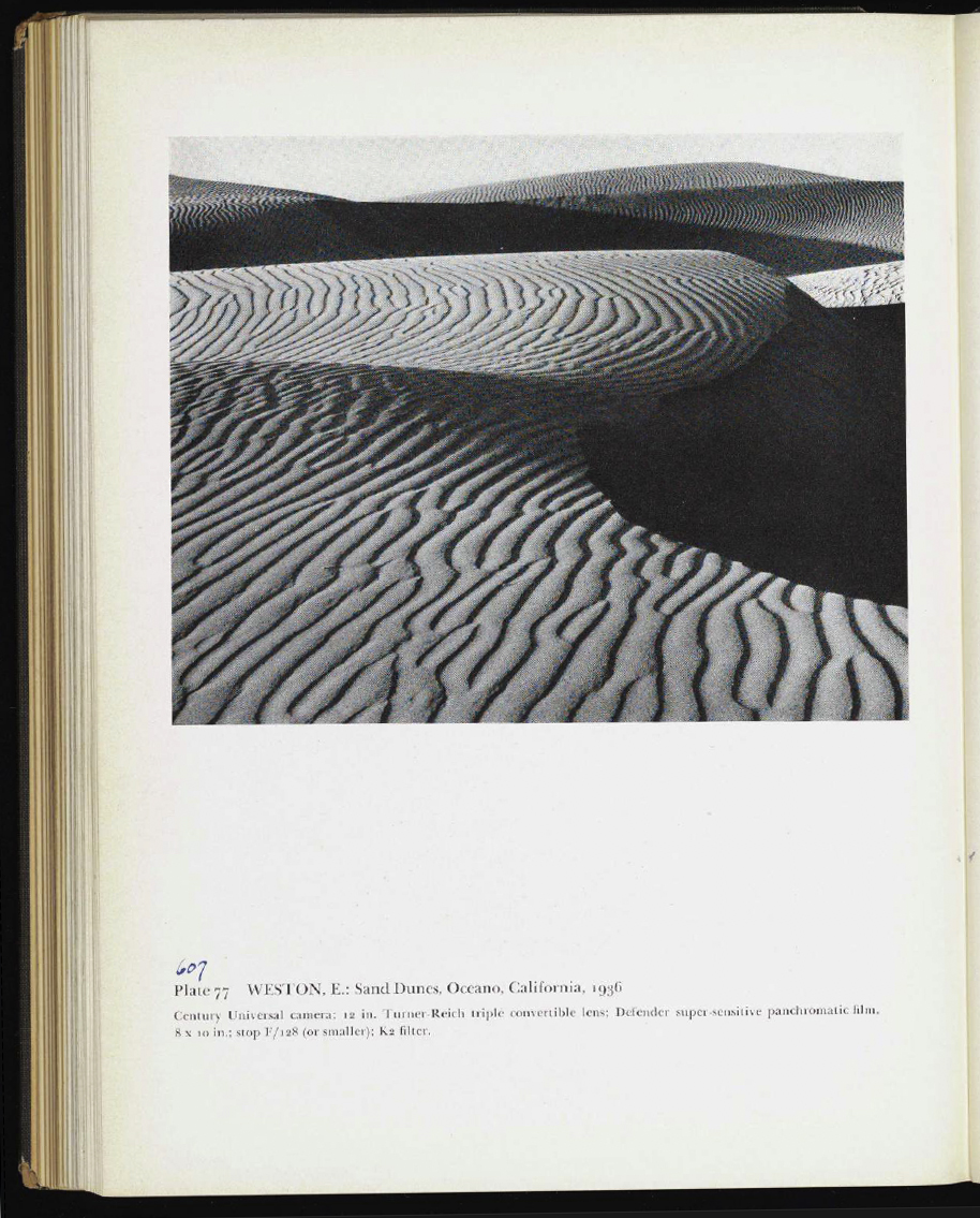 Edward Weston, Sand Dunes photograph in the first history of photography. Museum of Modern Art, 1937