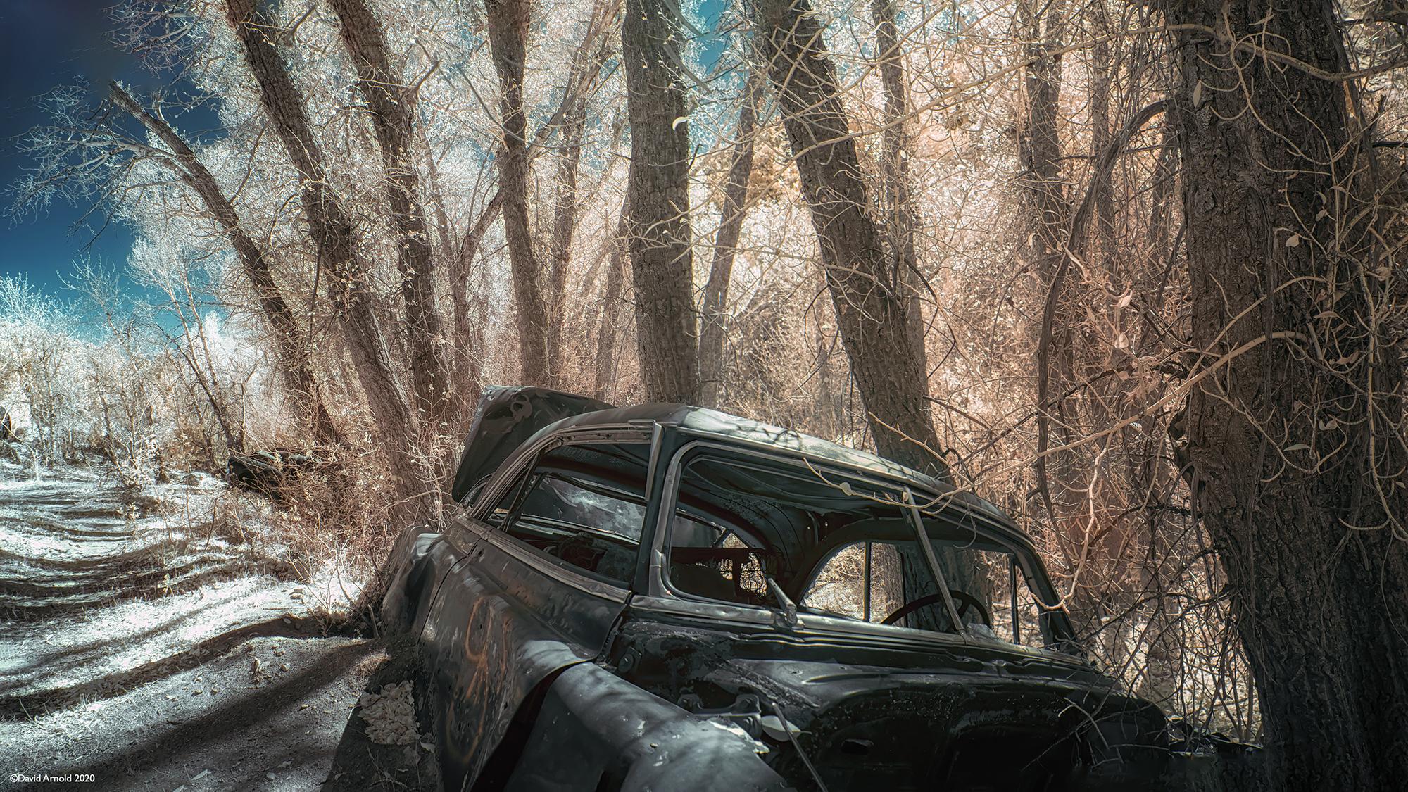 Abandoned Sedan, Ruby Mountains, Nevada