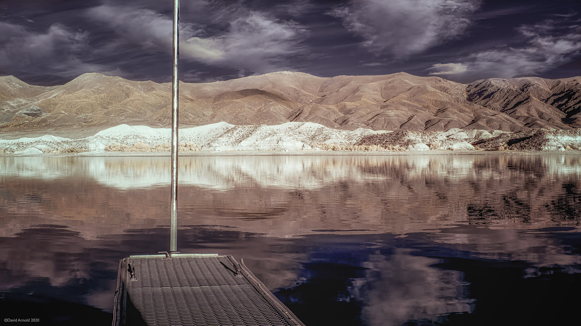 Aluminum Dock and Pole, Rye Patch Reservoir, Nevada