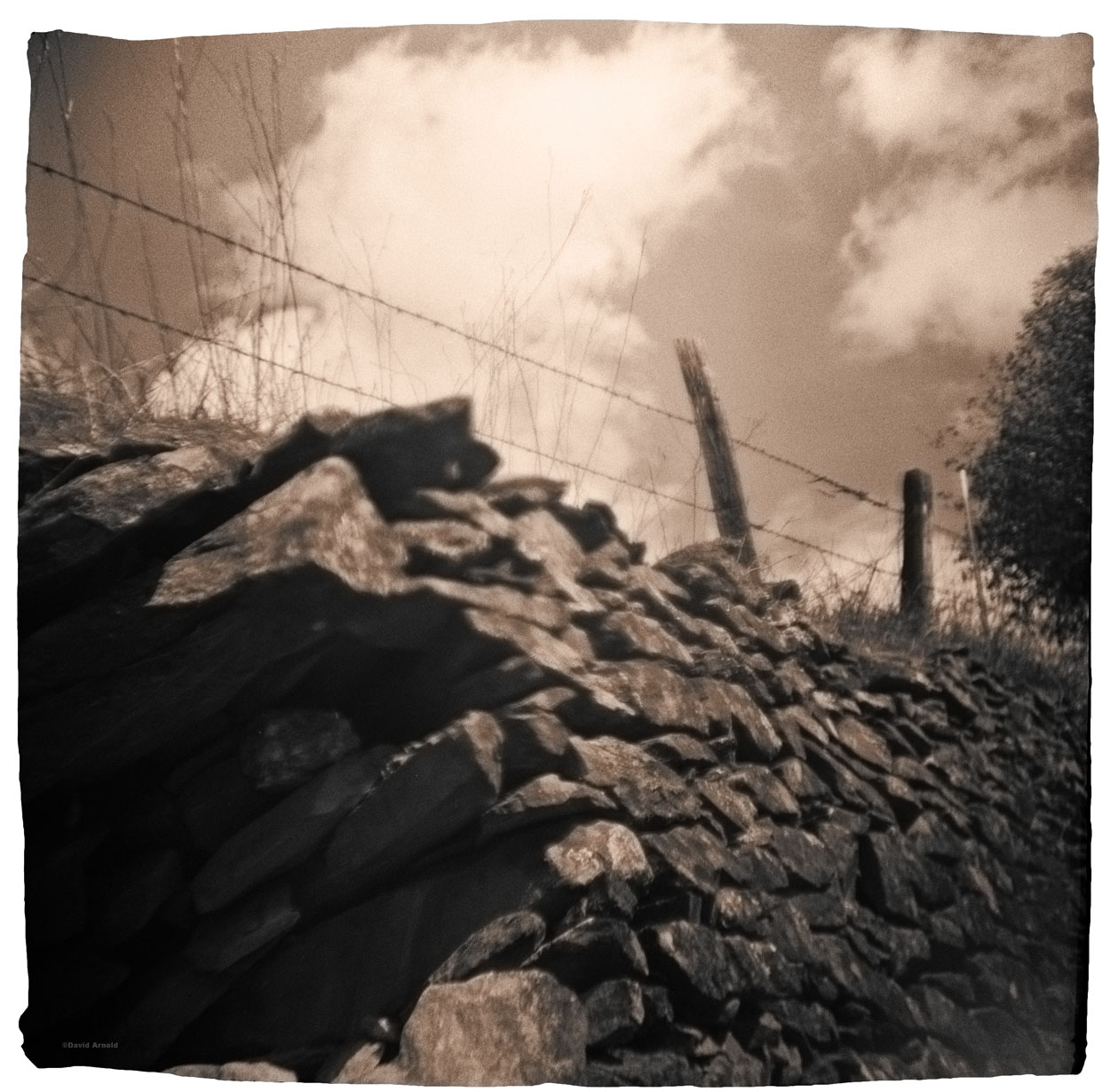 Rock Wall, Clouds, Coulterville, Mariposa County, California